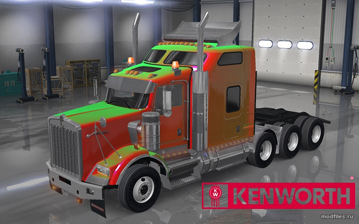 Мод Kenworth T800 2016 | 0.5.2 GT-Mike | American Truck Simulator