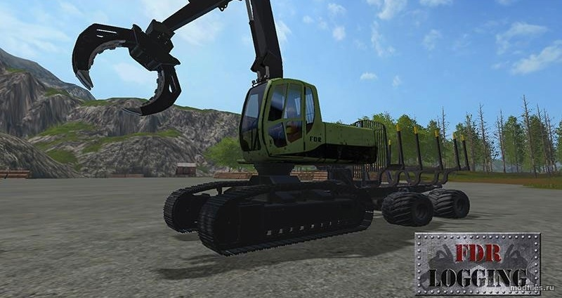 Мод Swing Forwarder | 1.0 FDR Logging | Farming Simulator 2017