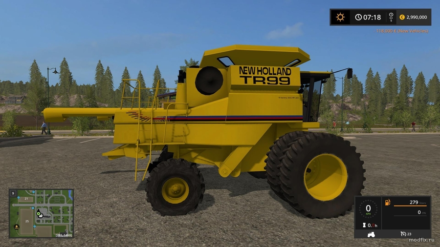 Мод New Holland TR Three (1.0 Oldiron1214) Farming Simulator 2017