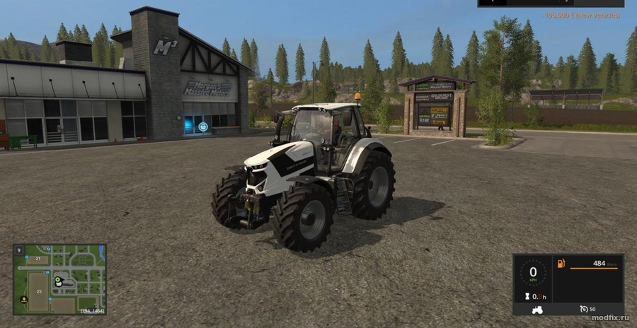 Мод DEUTZ FAHR 6 (1.0 Esit) Farming Simulator 2017