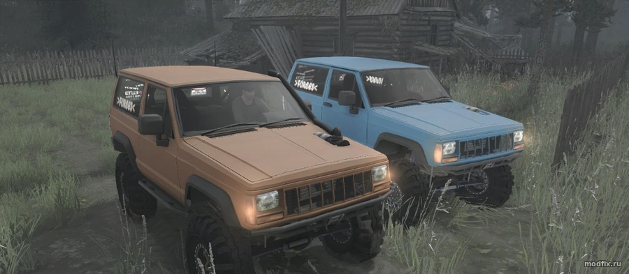 Мод Jeep XJ Nissan Turbo Diesel 1990 (07.12.17 Forces) MudRunner