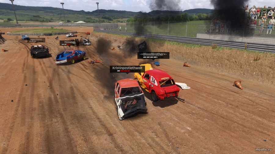 Мод Damage Mod (18.12.17 BloodBrother) Wreckfest