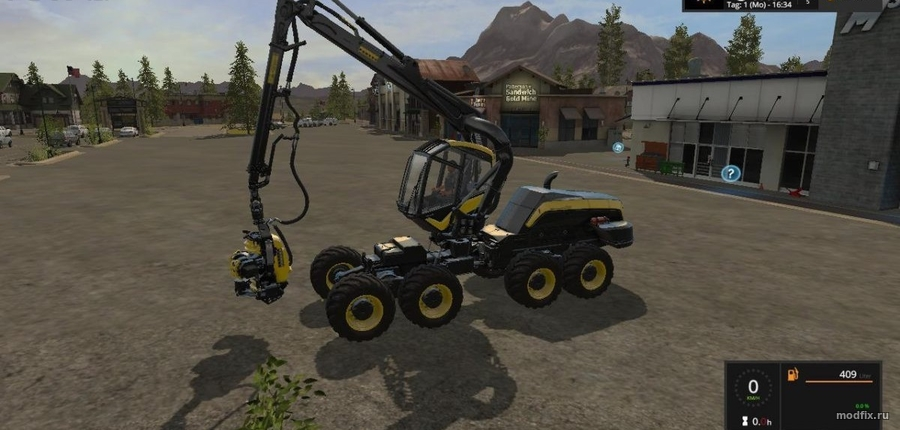 Мод Ponsse Scorpion King харвестер (1.5.3 Klifords) Farming Simulator 2017
