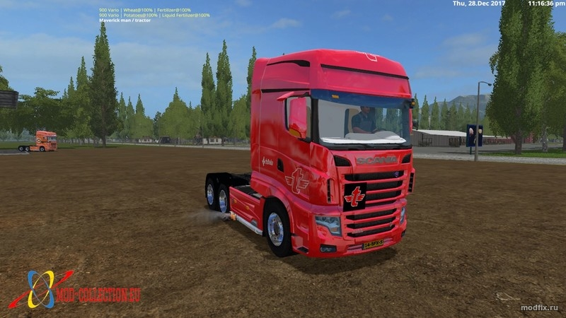Мод Scania R700 Tielbeke collection (3.0 Rolam) для Farming Simulator 2017