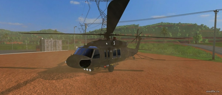 Мод Sikorsky UH-60 Black Hawk (2.0 Lambo-mods) Farming Simulator 2017
