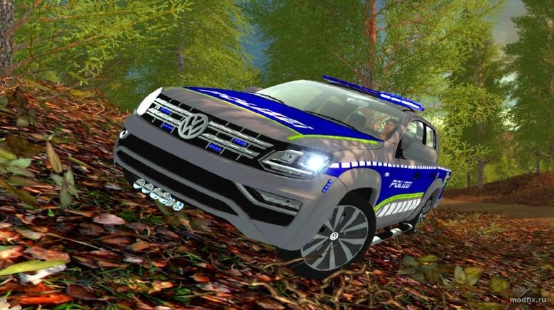 Мод Volkswagen Amarok POLICE (0.9 BlueLight-Modding) Farming Simulator 2017