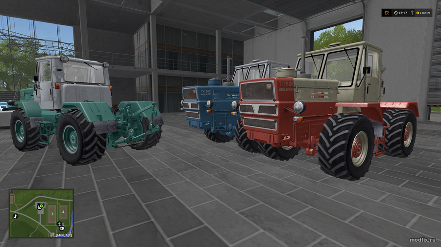 Мод Т-150к ХТЗ (1.0 RusAgroTeh) Farming Simulator 2017