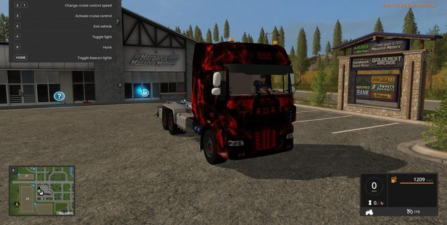 DAF BLACK AND RED